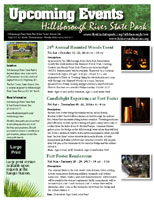 Upcoming events in the park
